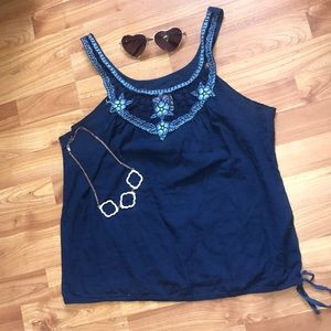 Free people navy top | size small 🌻